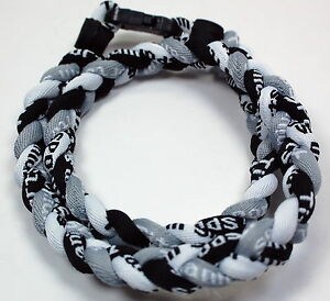 "Wholesale Lot of 14 20"" Black White Gray Titanium Necklaces Tornado Baseball"