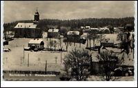 Rautenkranz Sachsen Vogtland DDR Postkarte ~1950/60 Teilansicht im Winter
