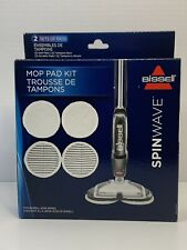 Bissell 2124 Genuine Spinwave Mop Pad Replacement Kit 4 Pads Total