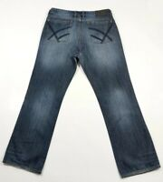 Kenneth Cole Straight distressed 100% Cotton Stretch Jeans W34 L30