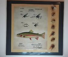 New listing Vintage lot of 7 fishing flies on small display card