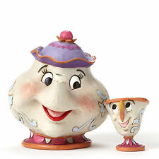 Jim Shore Disney Traditions Beauty and the Beast Mrs. Potts & Chip 4049622 Love