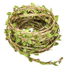Artificial Vine Natural Hemp Rope Fake Green Ivy Leaves Foliage Leaf Plant Decor