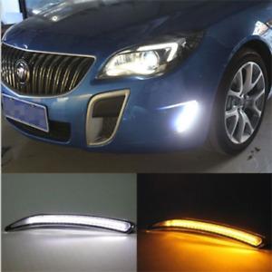 DRL For Buick Regal GS 10-2013 LED Daytime Running Light Fog Lamp Turn Signal CN