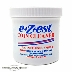 1- E-Z-Est (eZest) 5-Ounce Coin Cleaner Jar for Silver Gold & Copper Jewelry