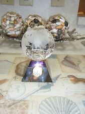CRYSTAL DESK CLOCK WITH DETACHABLE WORLD GLOBE