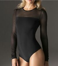 WOLFORD LOUIE STRING BODY, BODYSUIT, SMALL, BLACK (7005), New in box