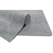 Light Gray Cotton Bath Mat Bathroom Accessories Toilet Floor Safety Rug Non-Slip