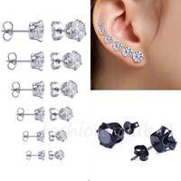 Stainless Steel Ear Stud Tragus Cartilage Piercing Earrings Studs Gifts 3mm-8mm