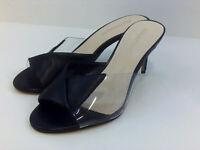 Enzo Angiolini Womens Adelia Leather Peep Toe Special, Black 3, Size 6.5 5pZf