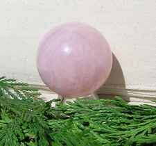 Rose Quartz Solid Crystal Gemstone Sphere - 40mm Diameter Complete with Stand