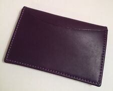 Made in Italy Purple Leather Unisex Card Wallet