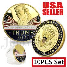 10PCS Donald Trump 2020 Keep America Great Commemorative Challenge Eagle Coins