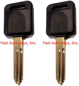2 (PAIR) NEW UNCUT IGNITION TRANSPONDER CHIPPED KEYS FOR NISSAN/INFINITI CARS