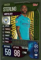 MATCH ATTAX 2019/20 RAHEEM STERLING GOLD LIMITED EDITION LE7G