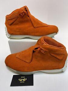 Nike Air Jordan 18 Retro Campfire Orange AA2494-801 Size 8.5