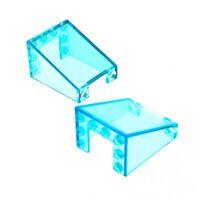 2 x Lego System Windschutzscheibe transparent hell blau 3x4x4 Auto Kran Star War