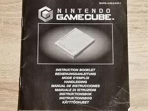 Memory Card Nintendo Gamecube Game Cube Manual Only Manual