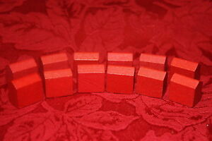 Vintage Replacement MONOPOLY Wooden Hotels <> Get Your Game On <>