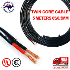 5 Meter TWIN CORE WIRE 6MM BATTERY CABLE 4X4 DUAL 12V 24V for TOYOTA NISSAN VW