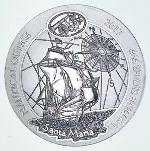 2017 Rwanda 50 Francs - 1 Oz. Silver Santa Maria - Walker Coin Collection *451
