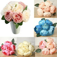 Artificial Peony/Rose Silk Flower Hydrangea Bouquet Home Wedding Party Decor