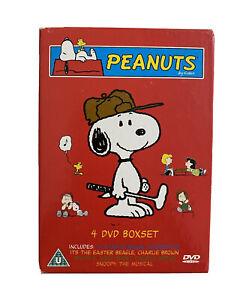Peanuts Snoopy - 4 DVD BOX SET - Region Free - Rare Cartoon Classic Collectable