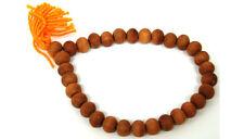 FRAGRANT SANDALWOOD MALA Prayer Bead Bracelet India Wood Elastic Stretch Wrist
