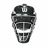 New Wilson Pro Stock Catcher's Mask, Black/Silver, Lg/X-Lg Baseball/Softball 7""