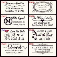 Custom Return Address Stamp Self Ink Invitations Paper Decoration Wedding Gift