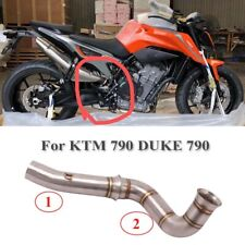 Motorcycle Exhaust Connect Link Tube Pipe Slip on Middle Pipe for KTM DUKE 790