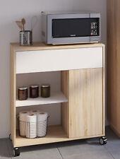 Mueble buffe cocina aparador microondas 1 cajon 1 puerta 1 hueco 81x40x90 cm