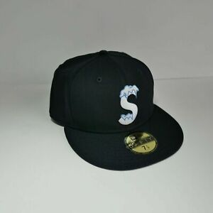 Supreme S Logo New Era 59FIFTY Hat 7 1/4 Box Logo Hypebeast New