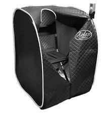 RELAX SAUNA premier upgraded black tent better health detox remove heavy metals
