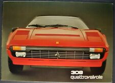 1984-1985 Ferrari Brochure 308 Quattrovalvole GTSi GTBi 4-Language Text Original