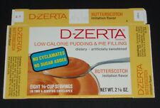1970 JELL-O D-ZERTA Box Butterscotch unused flat prop grocery food product diet