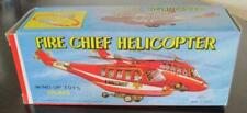 MTU Tin Litho Police Fire Chief Helicopter Wind-Up Toy HR-822 and Box From Korea