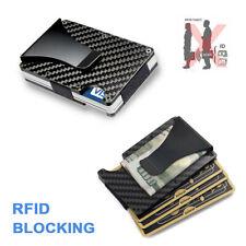 Men Credit Card Holder Wallet Gifts RFID Blocking Slim Money Clip Carbon Fiber