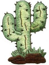 Cactus desert flower southwest embroidered applique iron-on patch new S-1206