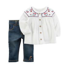 Carter's New Baby Girls' 2 Piece Tunic and Denim Pants 3 Months