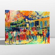 Oil Art Painting Print LeRoy Neiman Stock Exchange Home Wall Decor Canvas 24x30