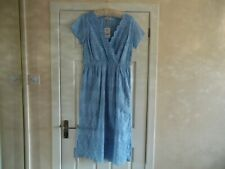 ** NEW ** NEXT BLUE BRODERIE ANGLAISE DRESS SIZE 14 BNWT