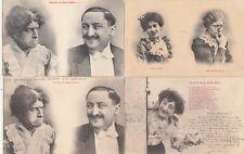 Lot 4 cartes postales anciennes FANTAISIES gendre et belle-mère