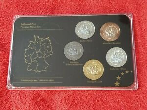 Germany  Precious Metal Set Red Yellow Gold Ruthenium Platinum Silver Plated 1c