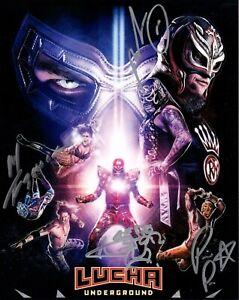 Pentagon Jr Prince Puma Fenix Aero Star Signed Lucha Underground Wrestling 8x10