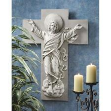 Design Toscano He Is Risen Christ Ascension Antique Stone Finish Wall Sculpture