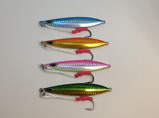 4 x 60g Casting Jigs with 1/0 Assist Hooks and micro jig Free Postage