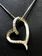 Heart Diamond Necklace 0.46 Ct.,White Gold 18Kt, has a GIA Gemologist Appraisal