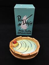 "Pendelfin ""Bathtub"" Wooden Lined Bathtub with Lady Bug Nib!"