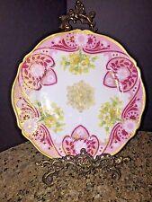 Large Antique Haviland Limoges HANDPAINTED Wall Platter c1894+, L331